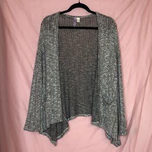 Alya Grey Knit Cardigan Sweater